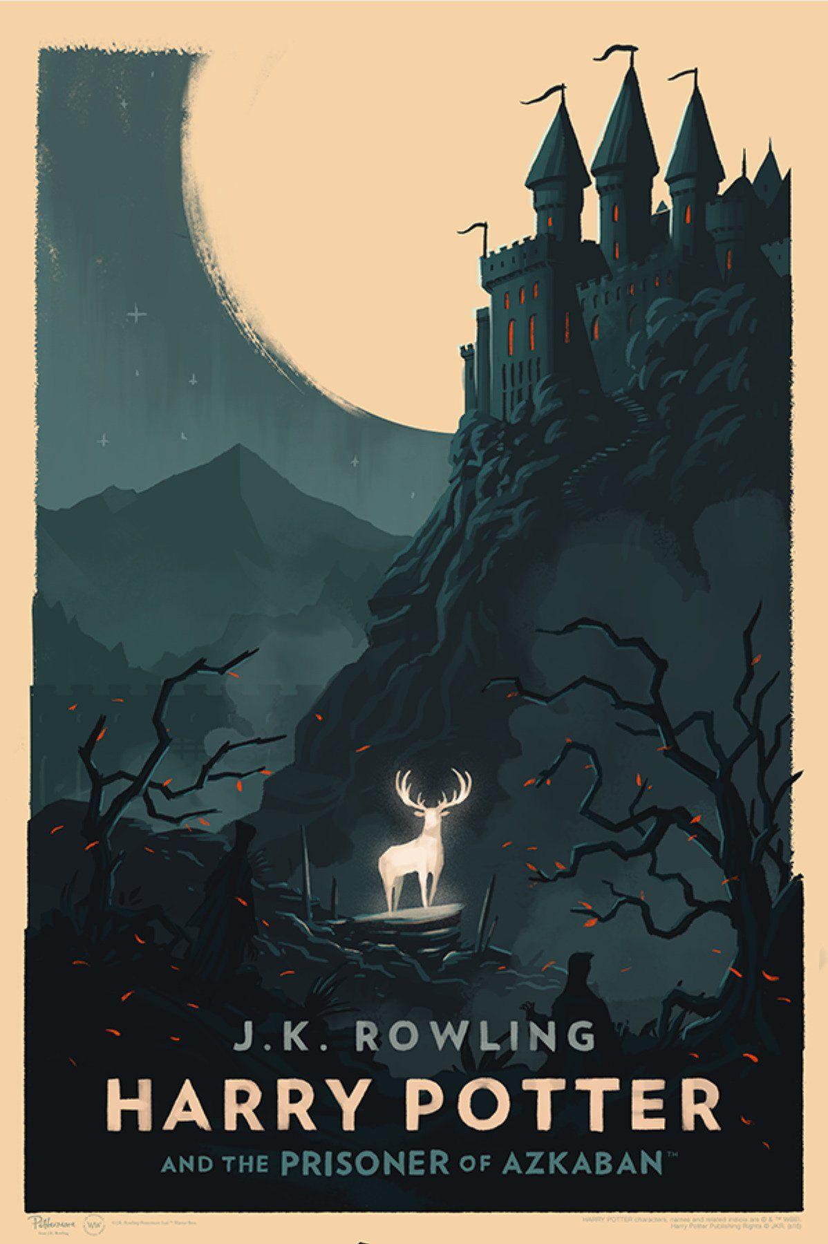 'Prisoner of Azkaban' Olly Moss Hogwarts poster