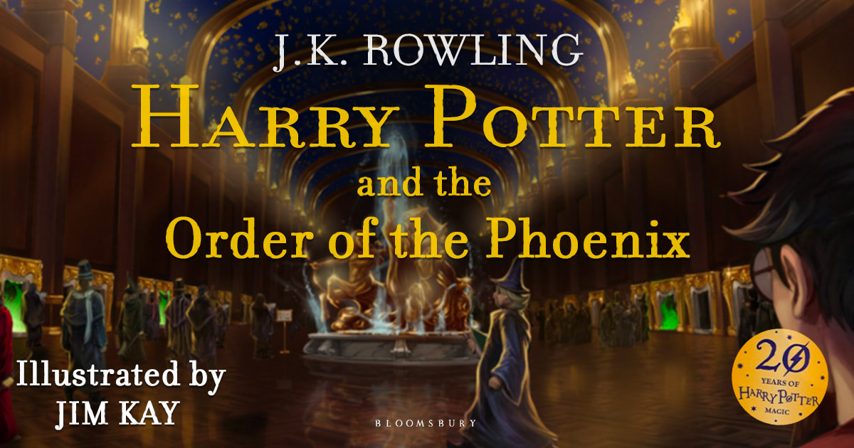 Fan made 'Order of the Phoenix' illustrated edition artwork.