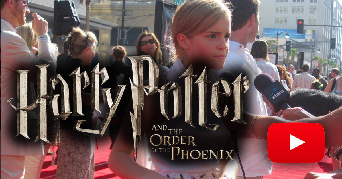 Harry Potter Fan Zone walks the red carpet at the 'Order of the Phoenix' premiere