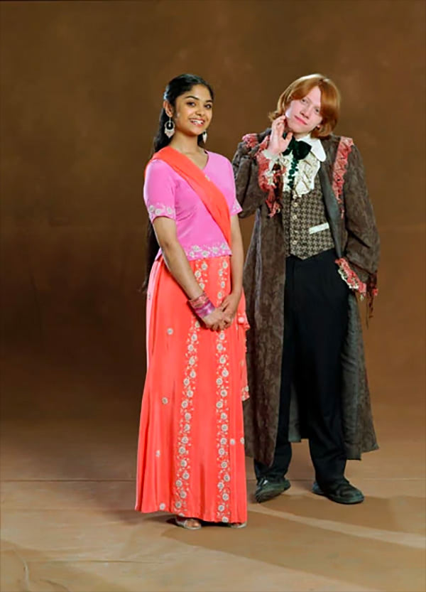 Padma Patil and Ron Weasley Yule Ball portrait