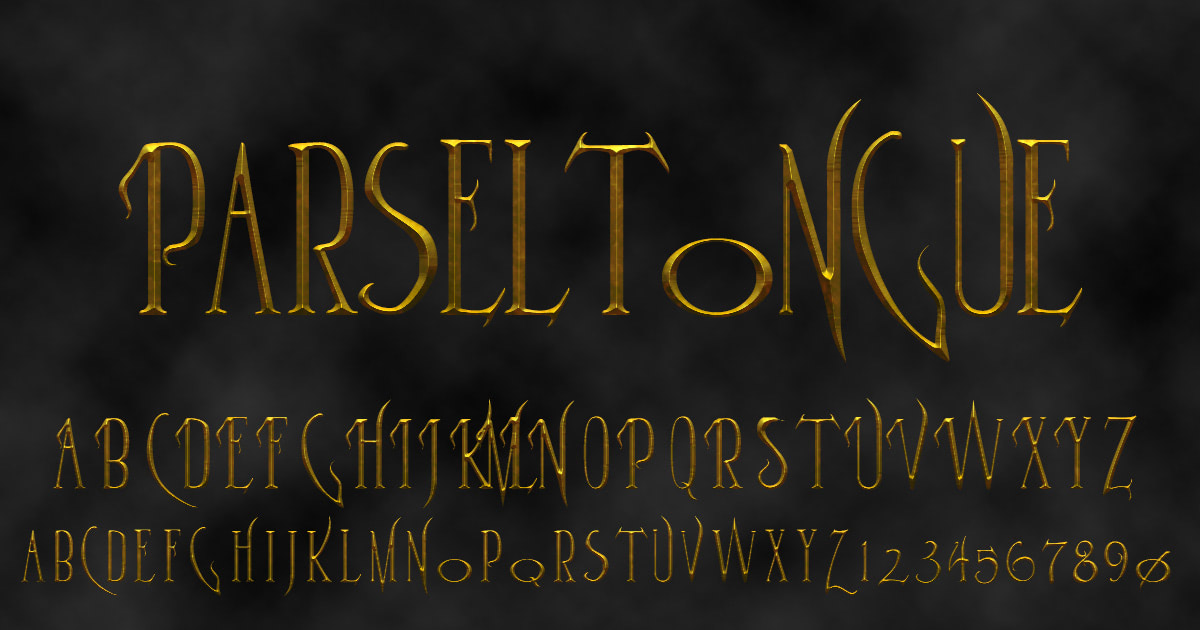 Download free 'Parseltongue' font