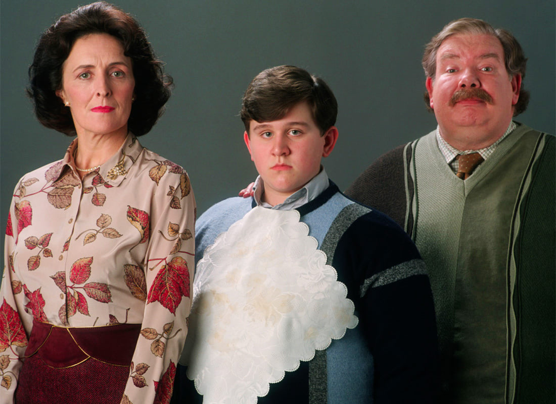 Portrait of Petunia, Dudley and Vernon Dursley