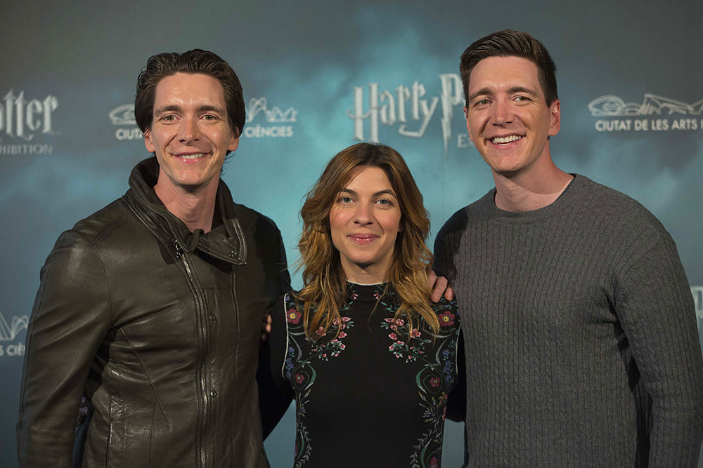James Phelps, Natalia Tena and Oliver Phelps open 'Harry Potter: The Exhibition' in Spain
