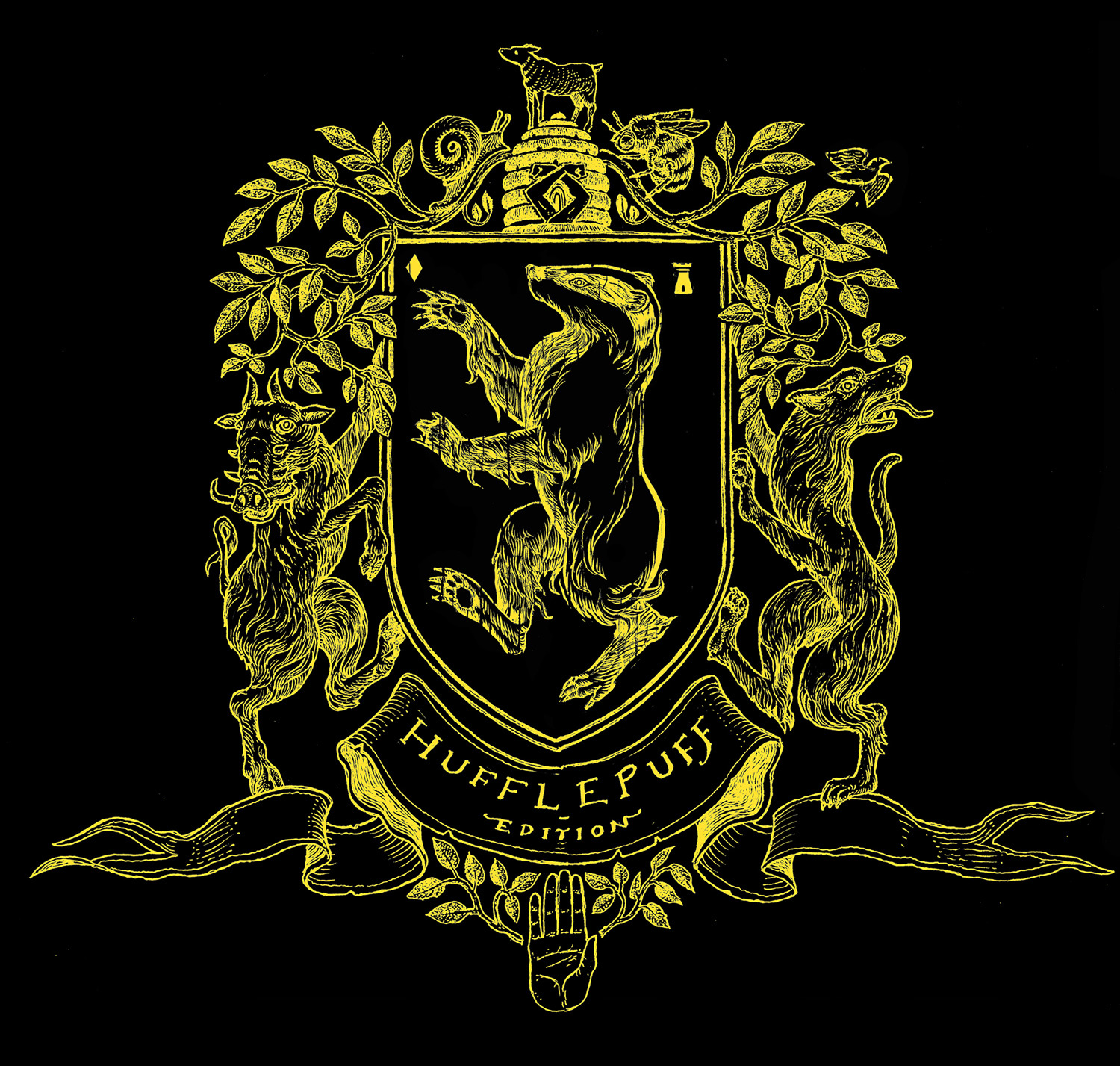 'Philosopher's Stone' house edition crest (Hufflepuff)