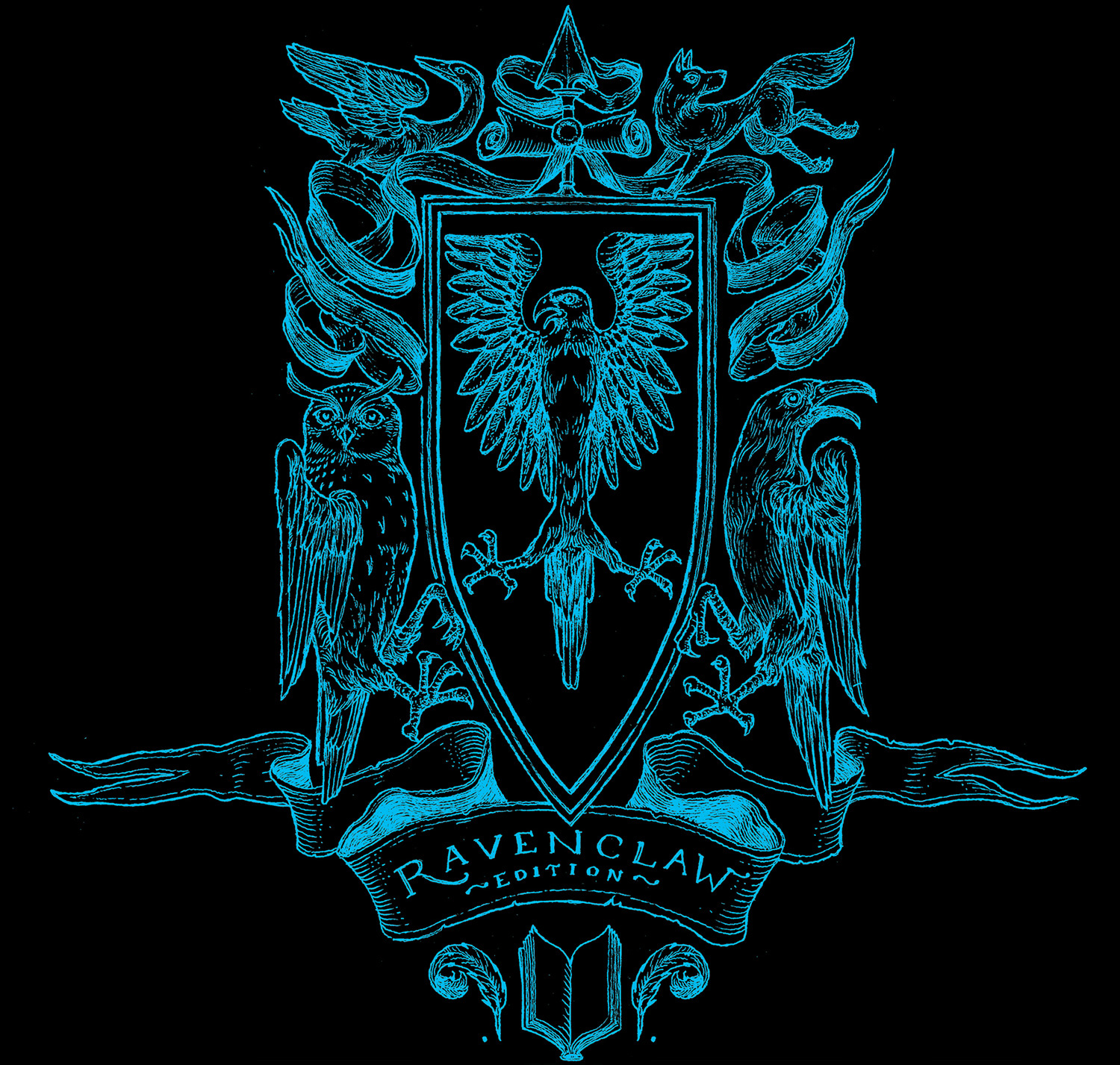 'Philosopher's Stone' house edition crest (Ravenclaw)