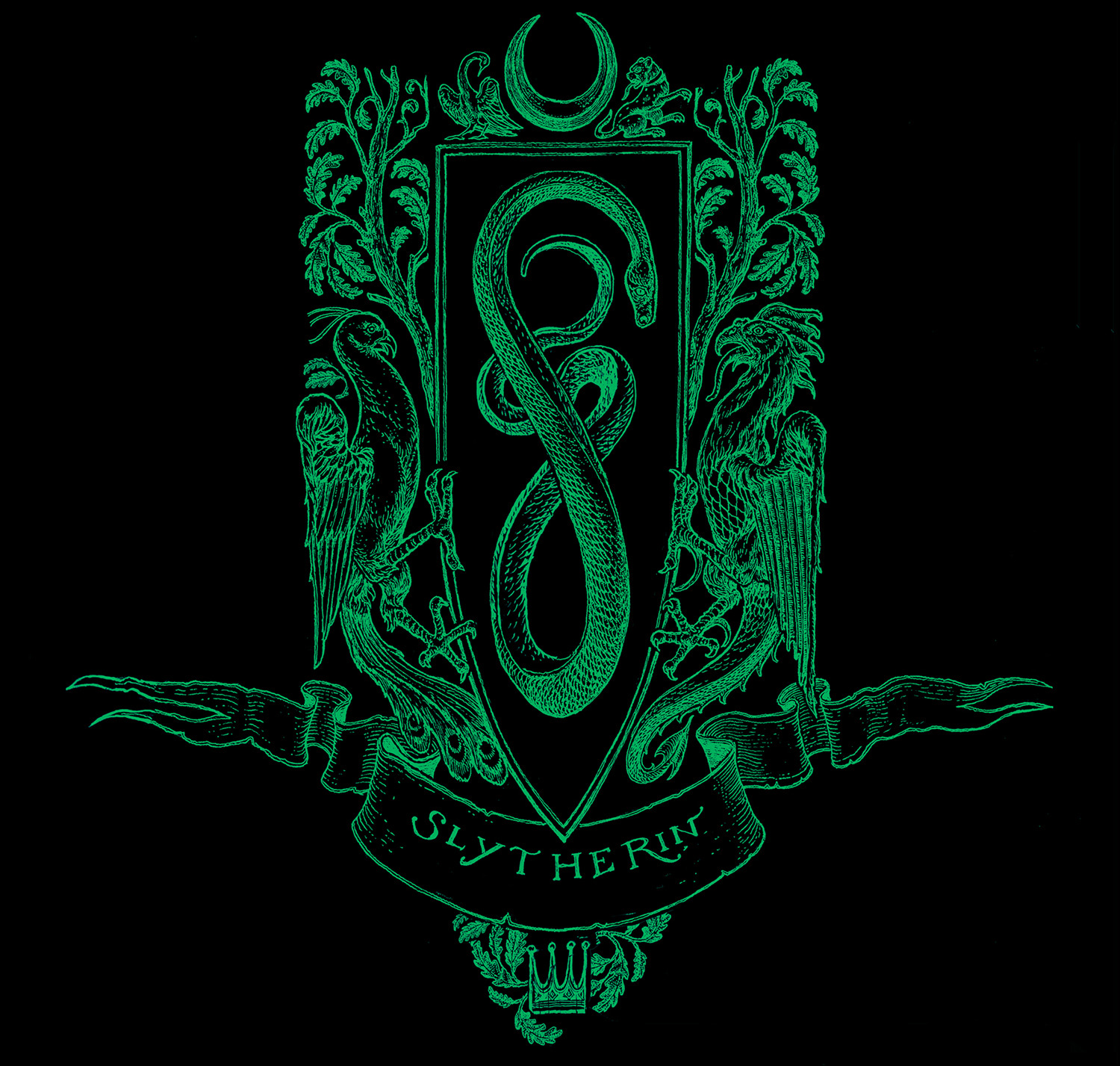 'Philosopher's Stone' house edition crest (Slytherin)