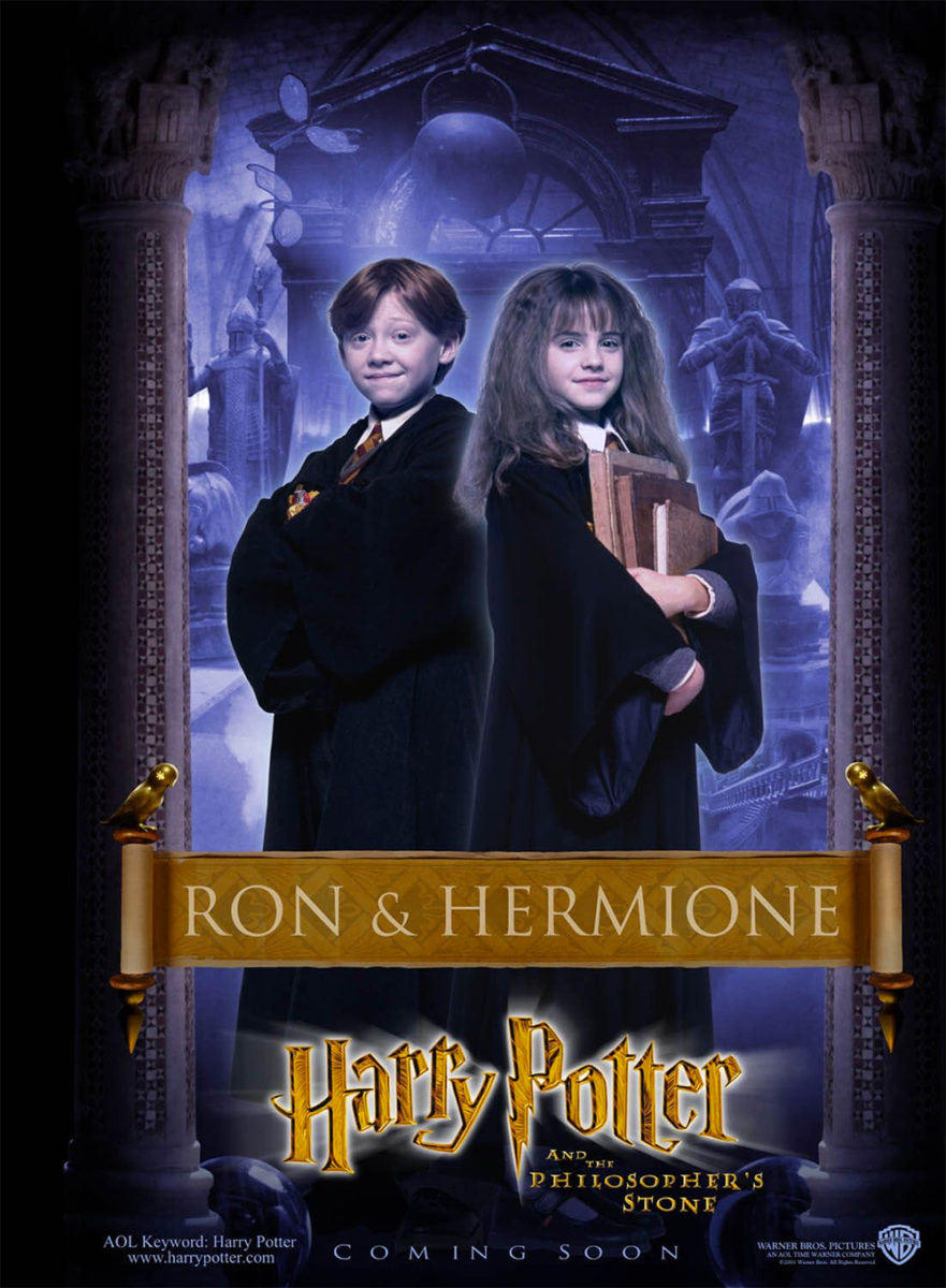'Philosopher's Stone' Ron & Hermione poster