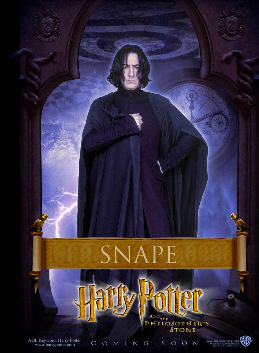 'Philosopher's Stone' Snape poster