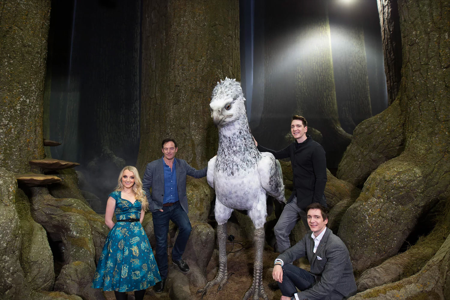 'Potter' stars and Buckbeak at the Forbidden Forest expansion