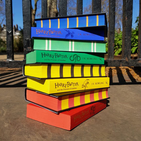 'Prisoner of Azkaban' house editions book stack