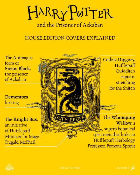 'Prisoner of Azkaban' house edition cover artwork chart (Hufflepuff)