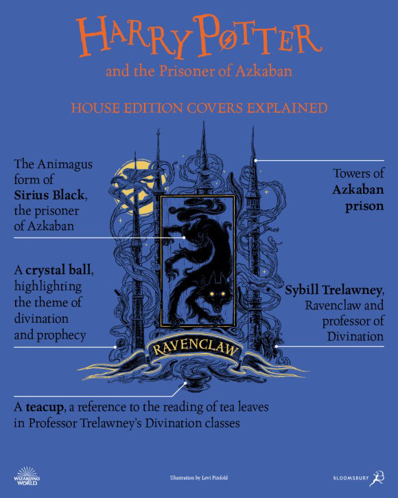 'Prisoner of Azkaban' house edition cover artwork chart (Ravenclaw)