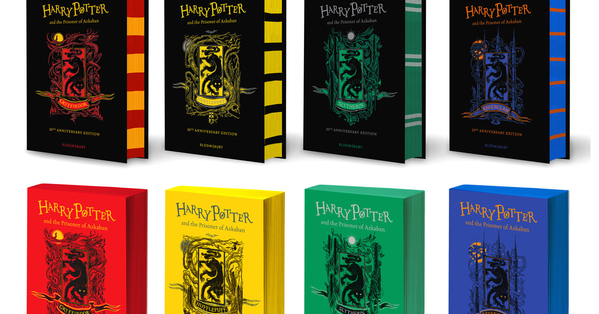 Bloomsbury reveal cover designs for 20th anniversary house editions of 'Prisoner of Azkaban'