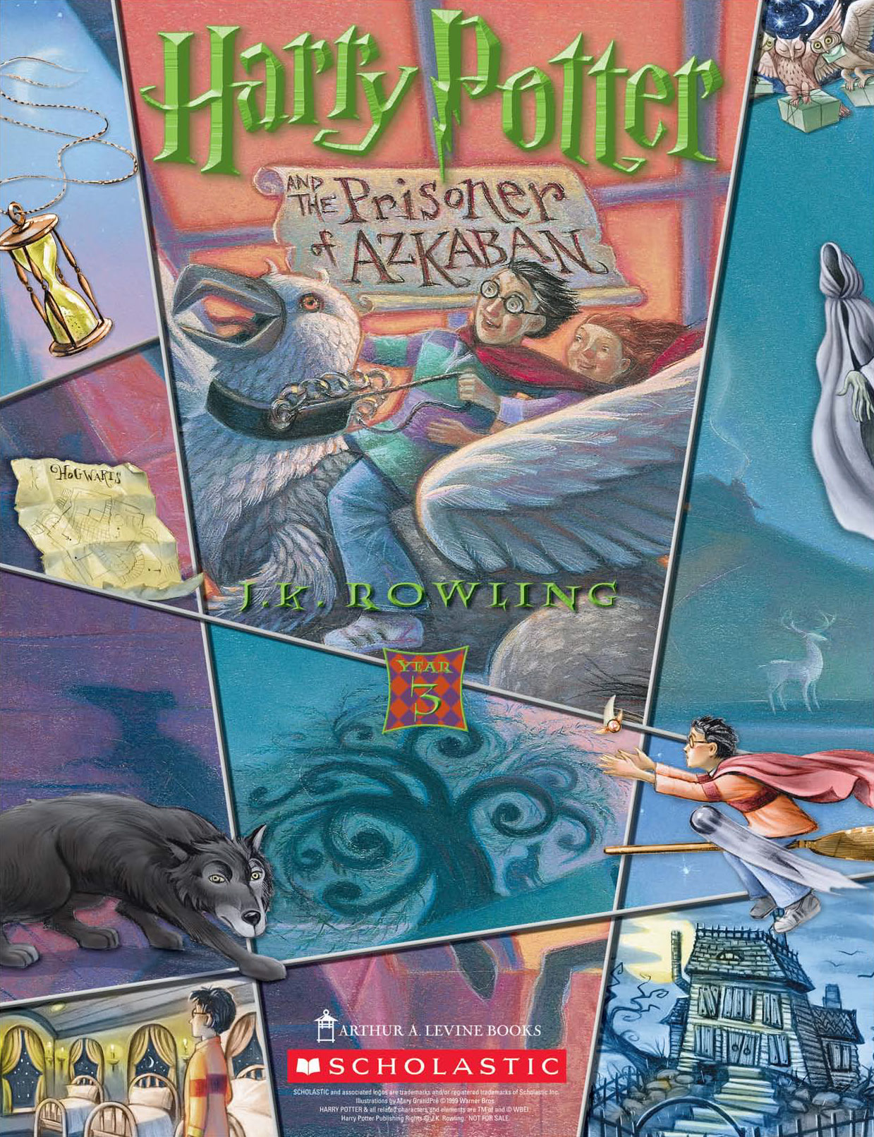 'Prisoner of Azkaban' (Year 3) Scholastic promotional poster