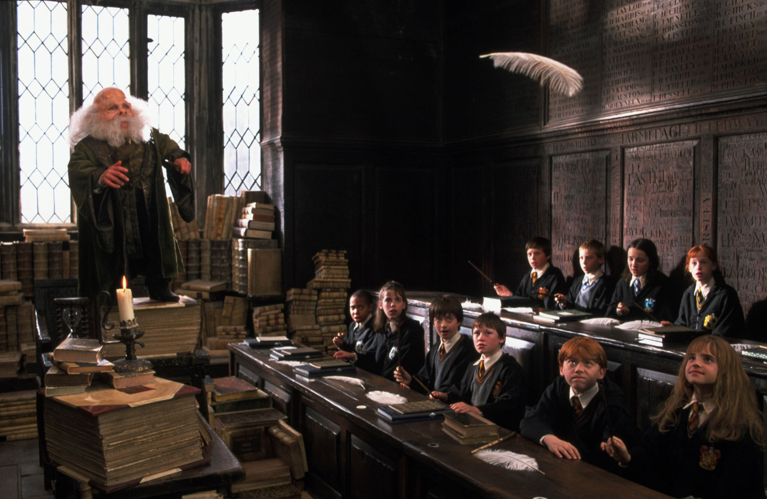 Professor Flitwick in Charms class