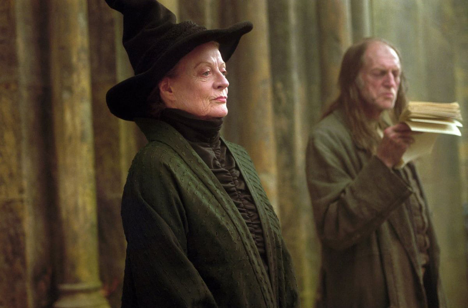 Professor McGonagall and Argus Filch