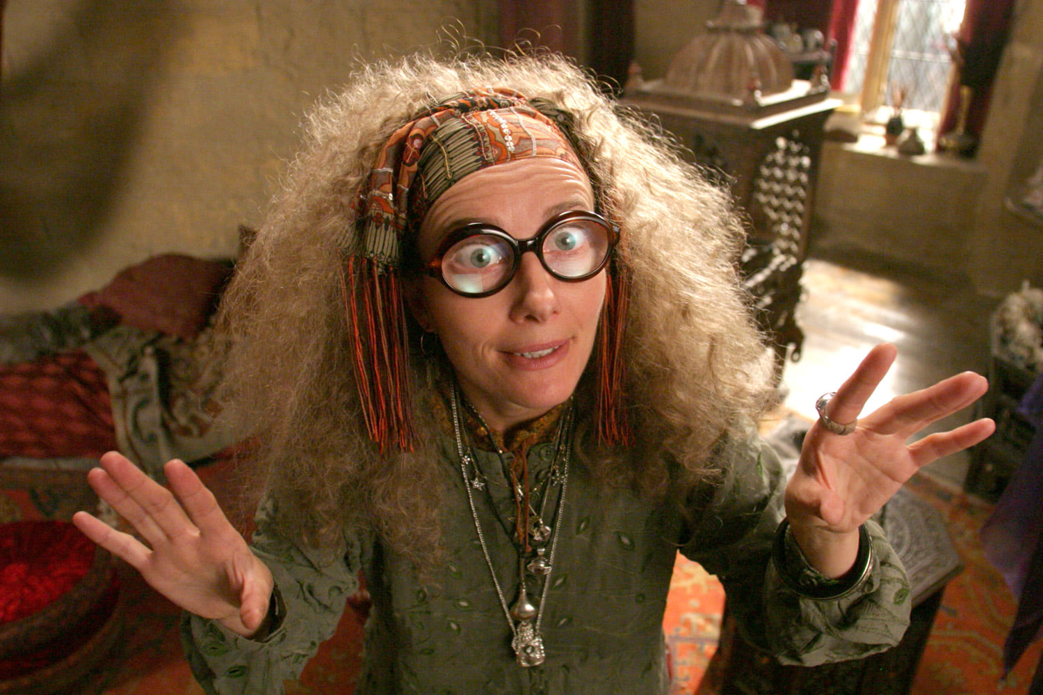 Professor Trelawney in Divination