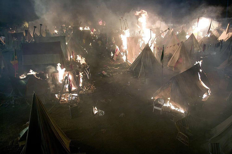 Quidditch campsite burns