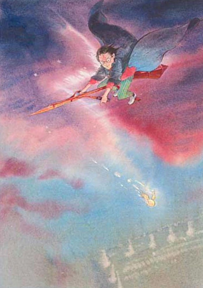 Quidditch Match (Cliff Wright illustration)