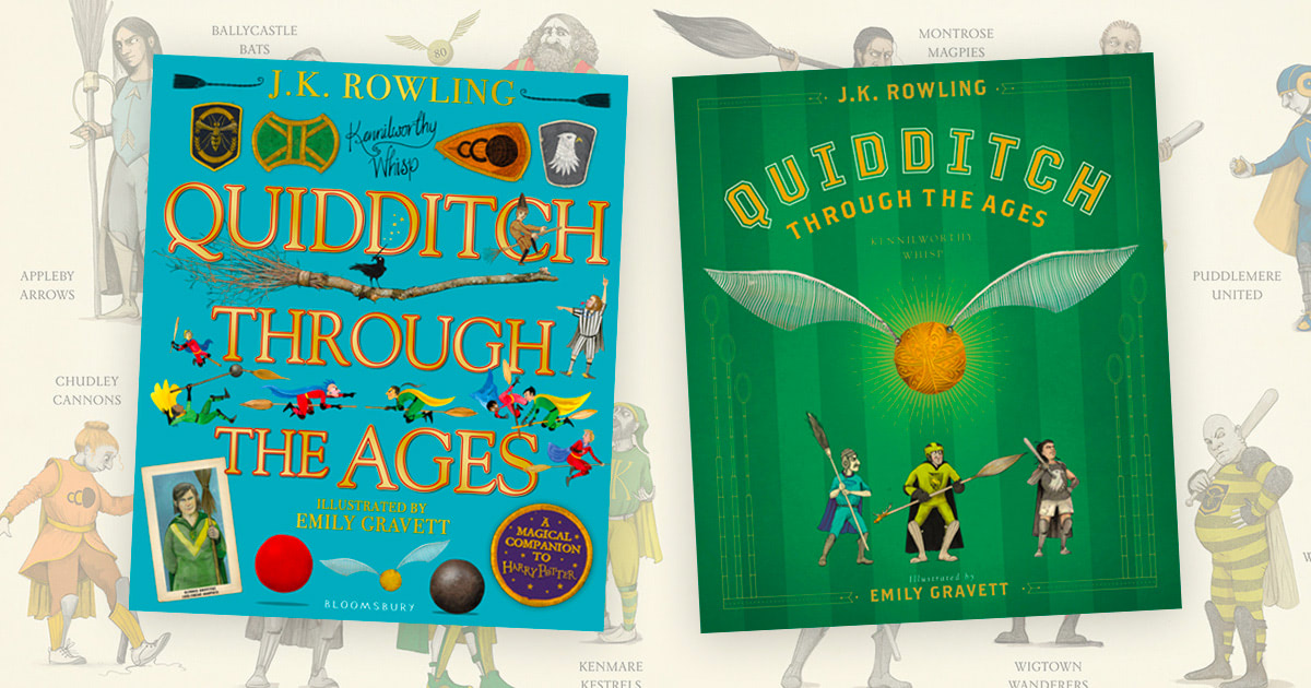 Cover artwork unveiled for illustrated 'Quidditch Through the Ages'