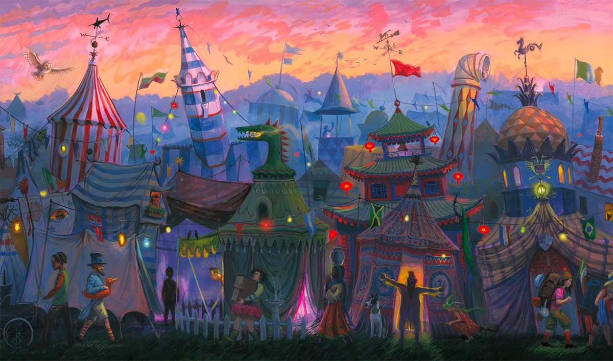 Jossa Tylypahkan Oppilaat Ylittävät Kanavan Quidditch-world-cup-tents