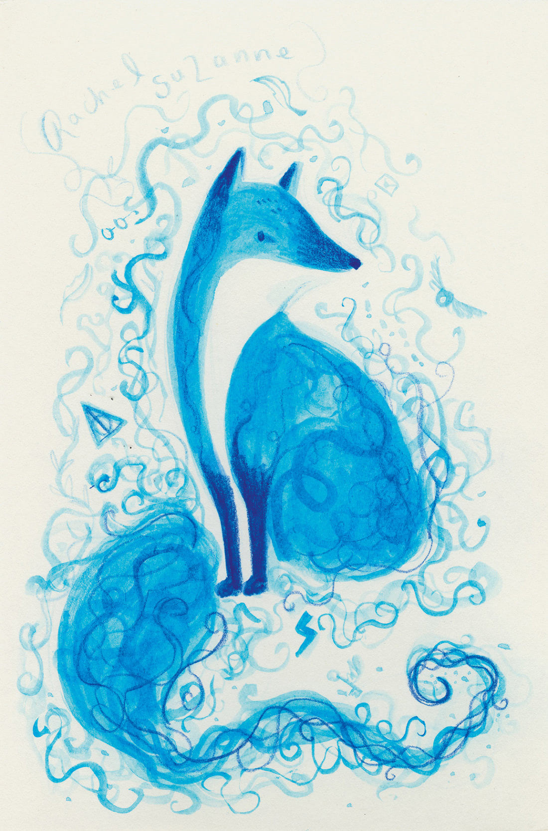 Fox (Rachel Suzanne Patronus on a Postcard)