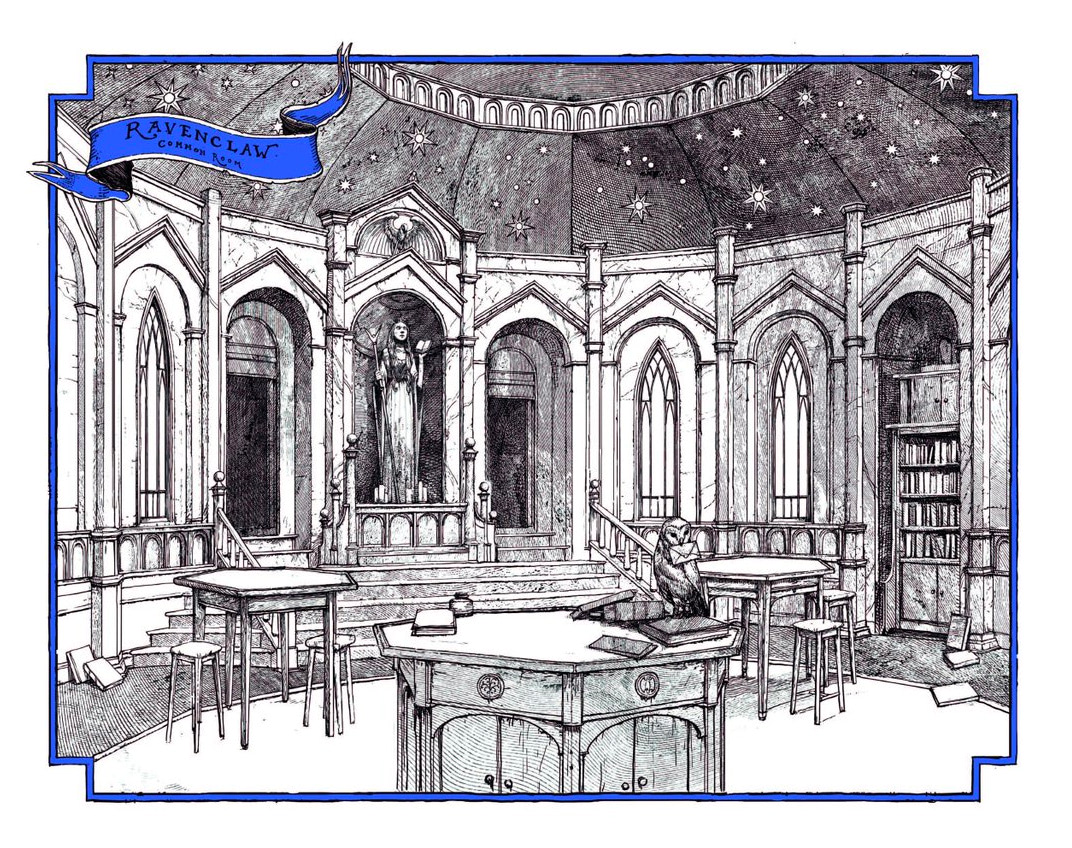 Ravenclaw common room (house editions)