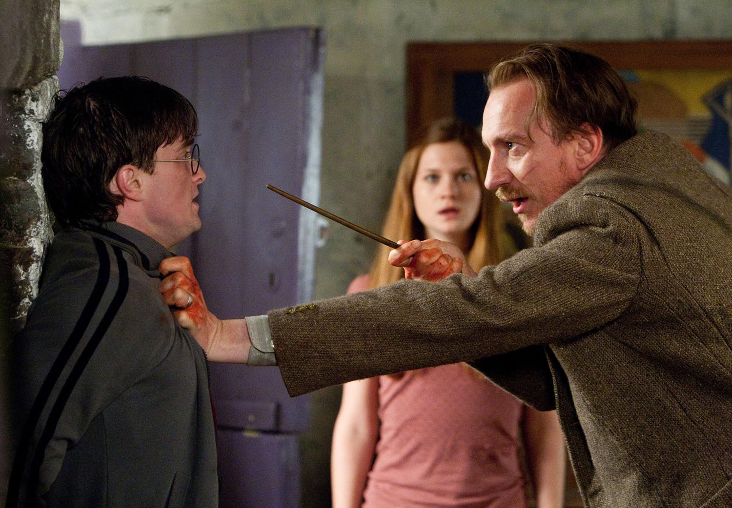 Remus Lupin interrogates Harry