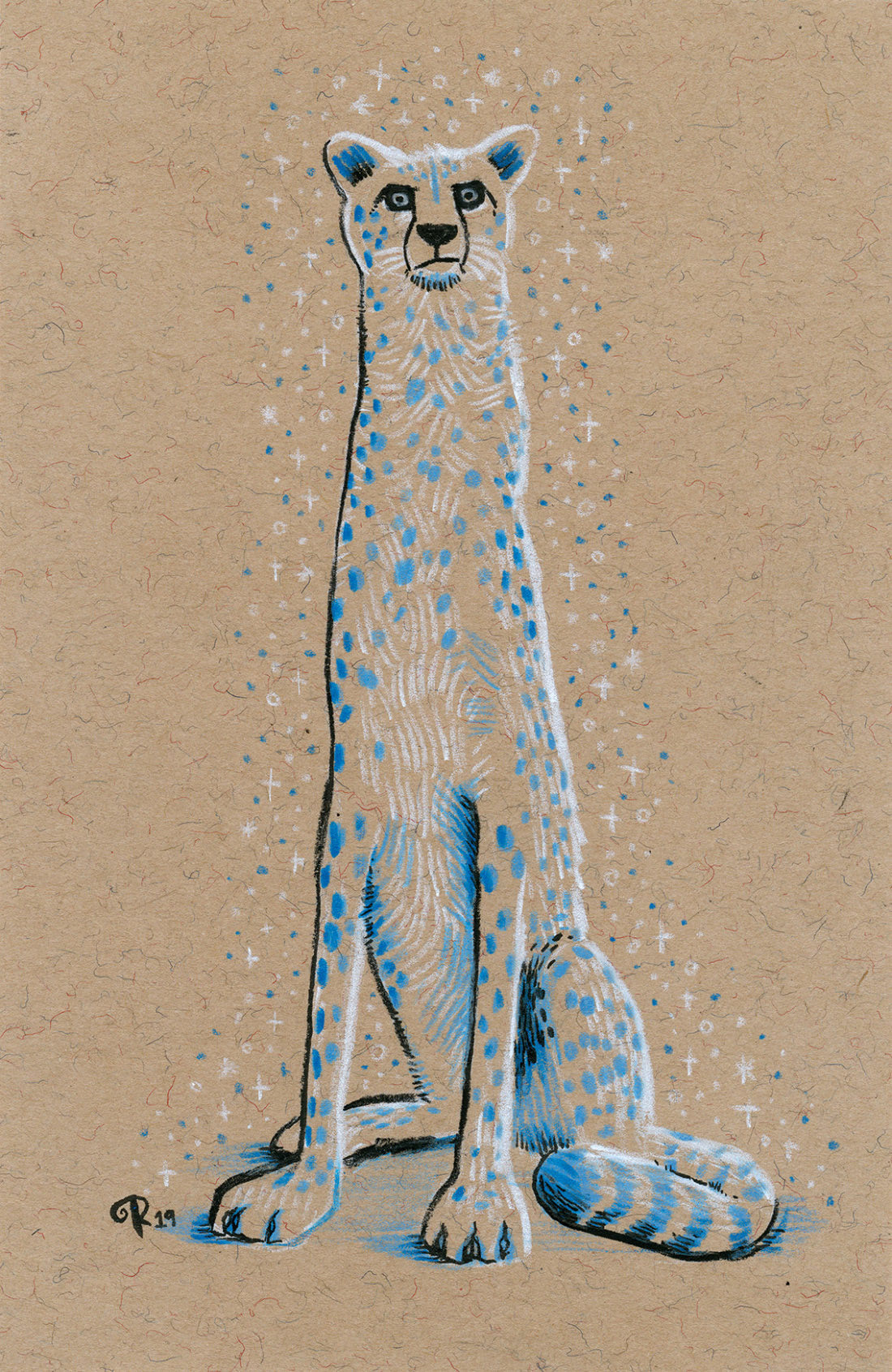 Cheetah (Rob Biddulph Patronus on a Postcard)