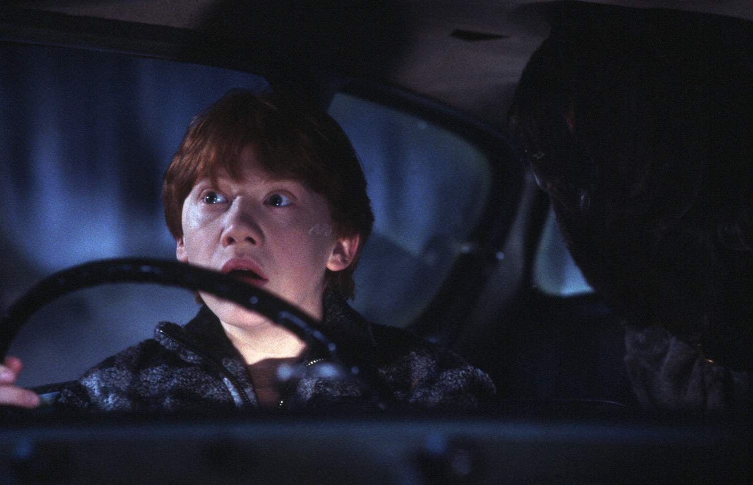 Ron driving the Ford Anglia