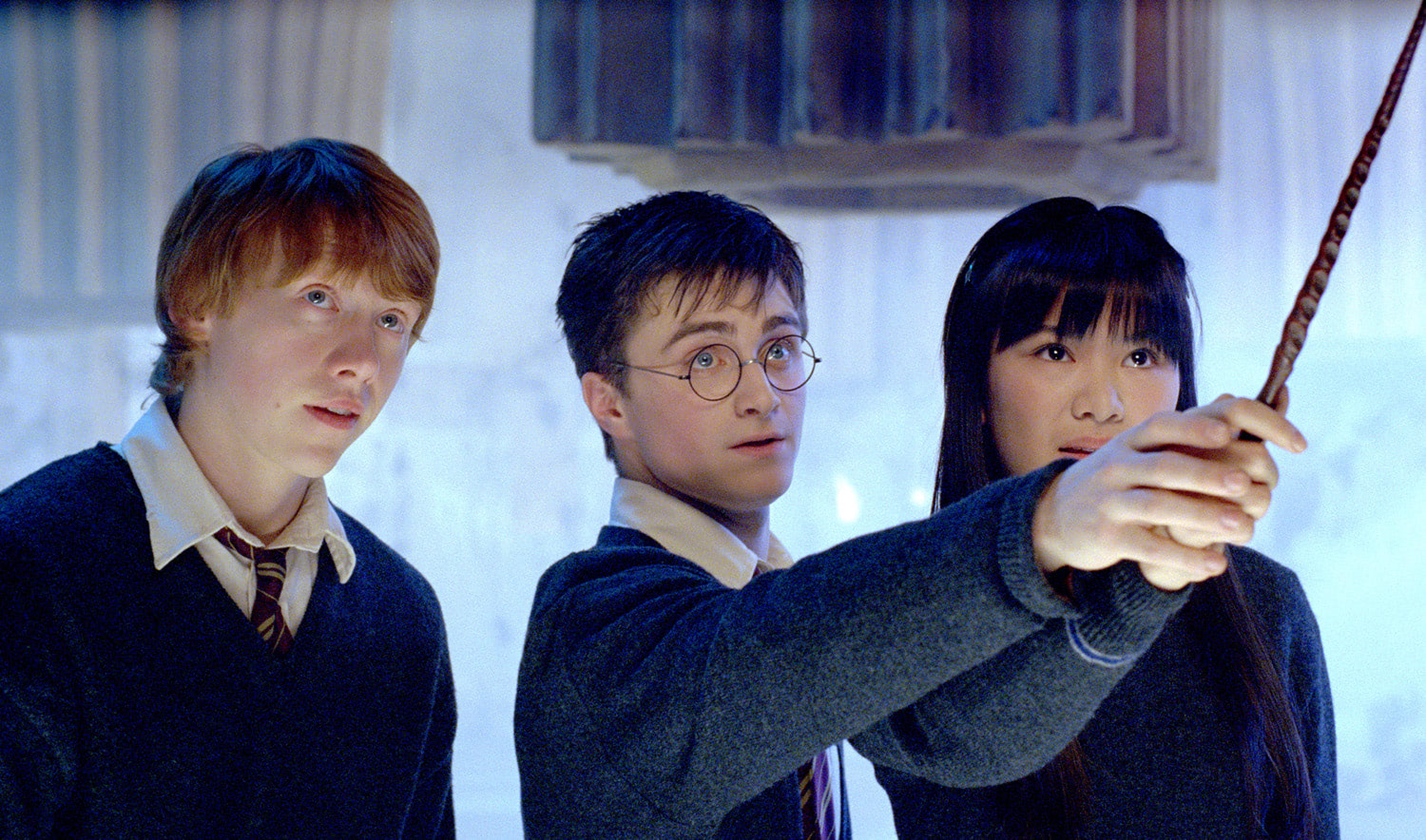 Ron, Harry and Cho in the Room of Requirement