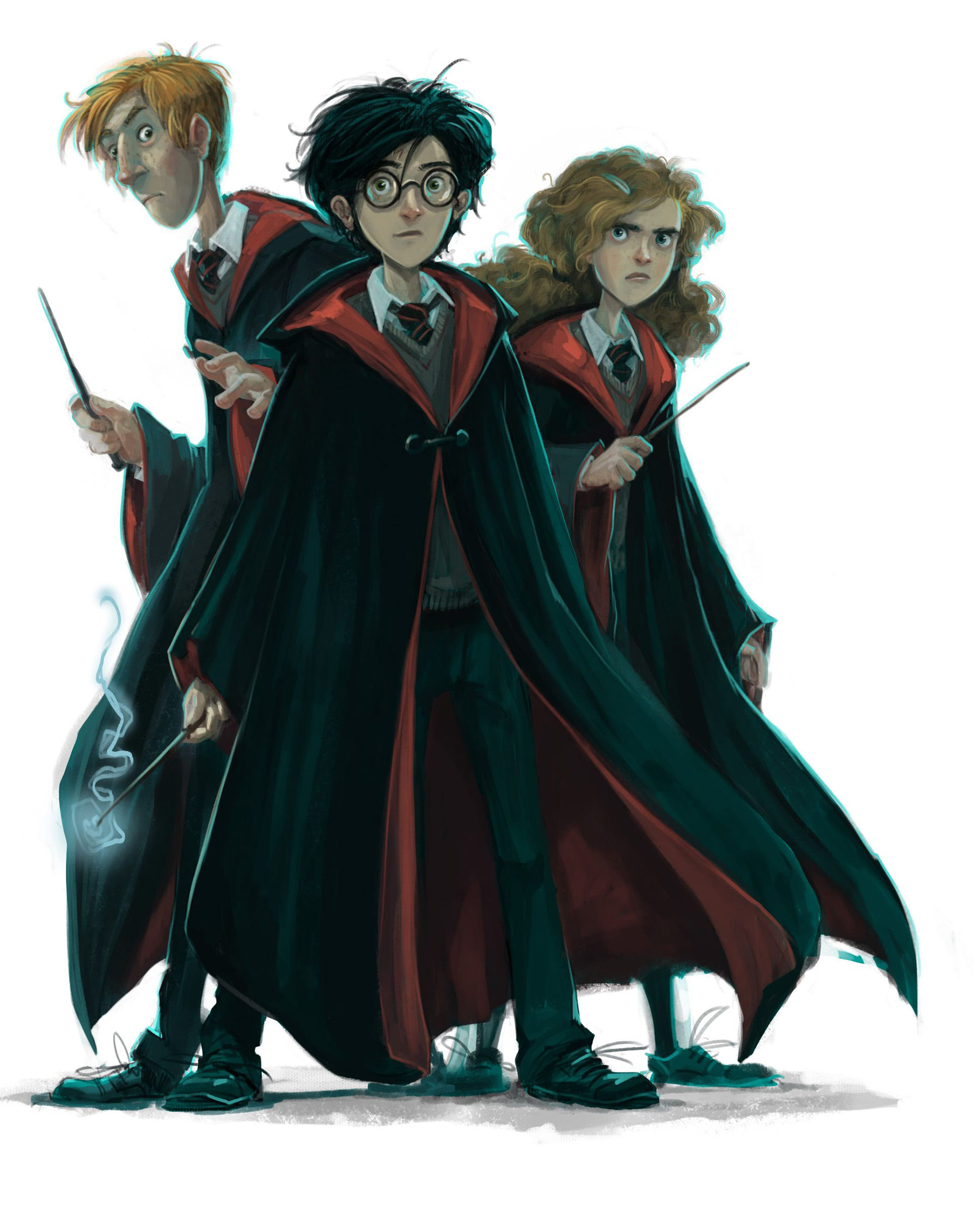 Ron, Harry and Hermione (Jonny Duddle illustration)