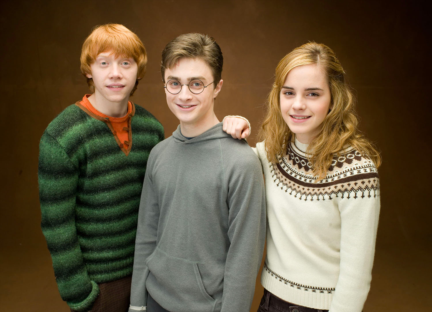 Portrait of Ron, Harry and Hermione