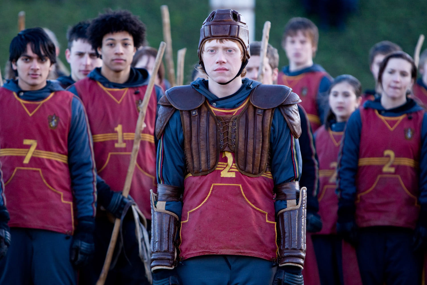 Ron is nervous at Quidditch tryouts