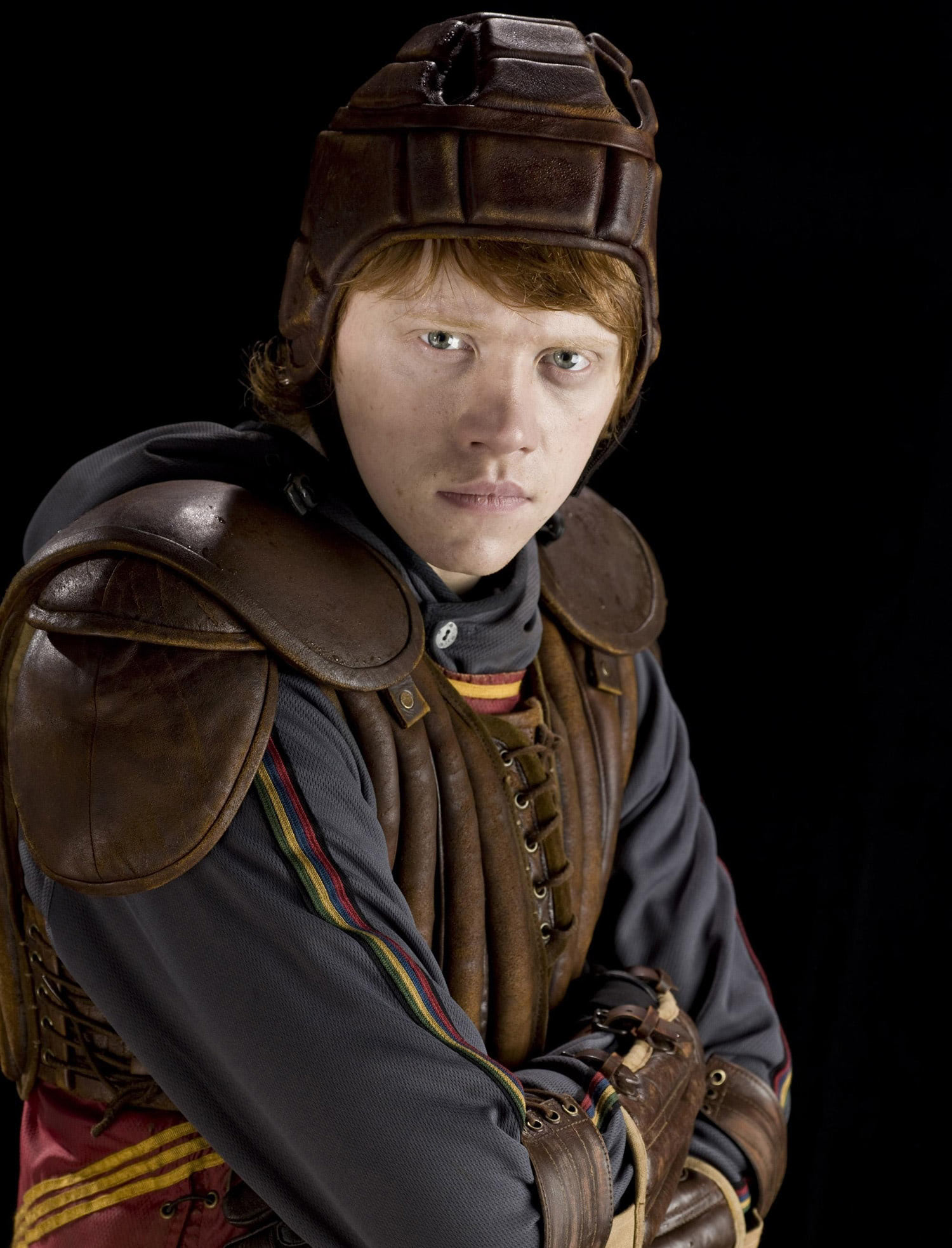 Portrait of Ron Weasley in Quidditch robes