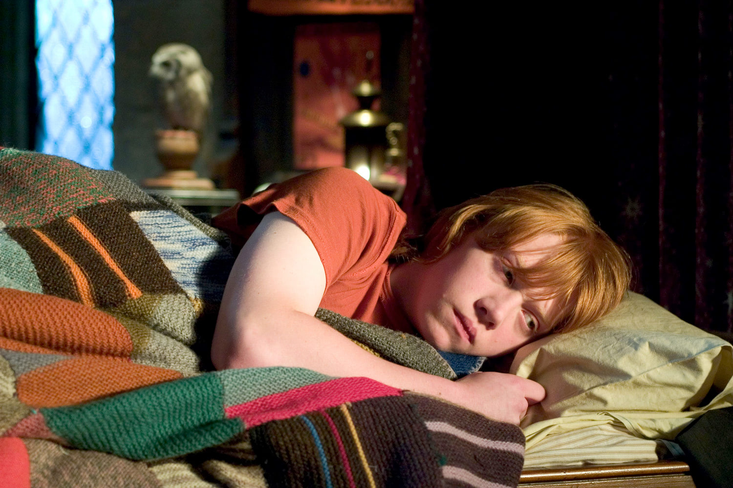 Ron Weasley in bed