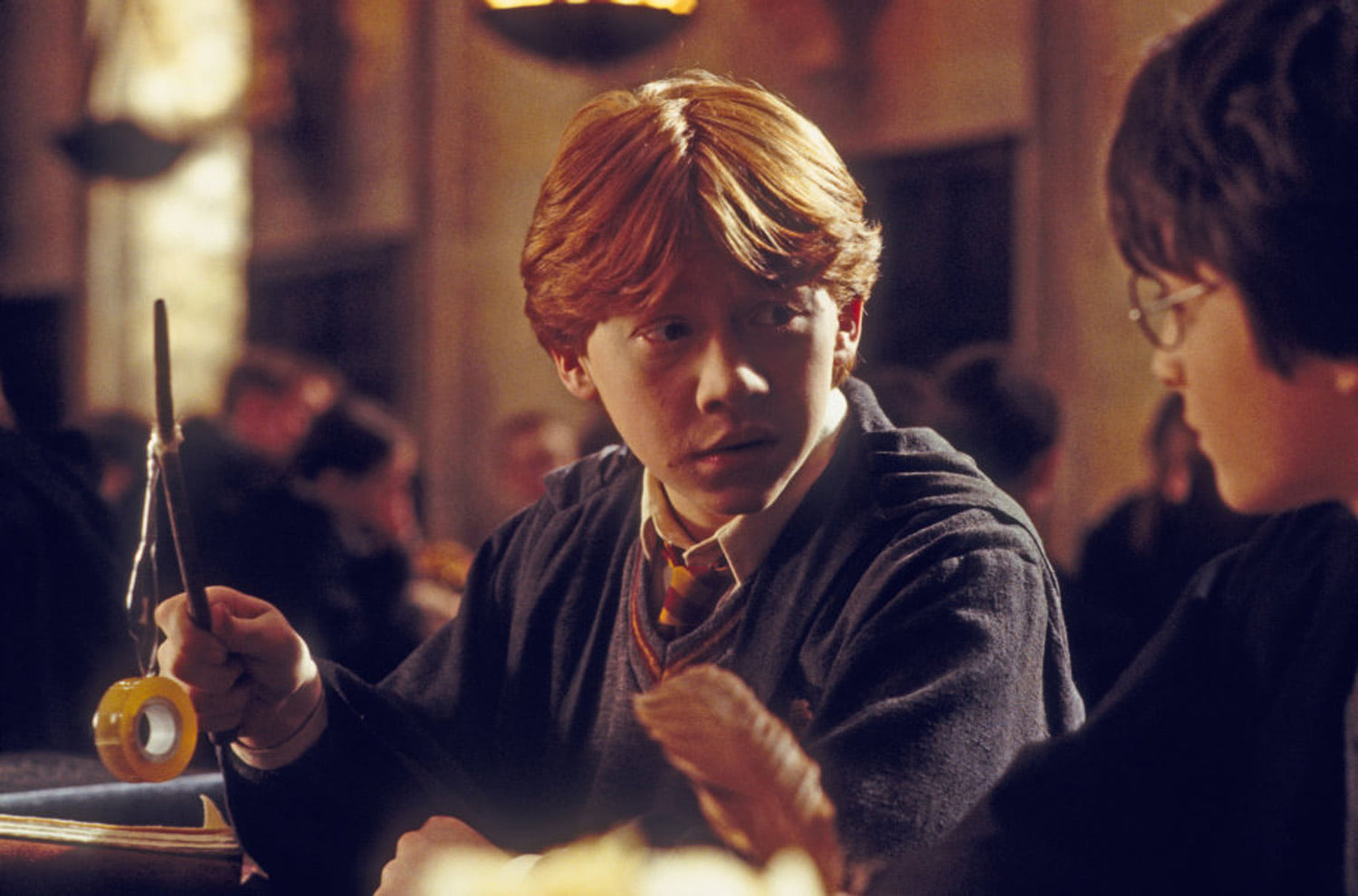 Ron with the broken wand