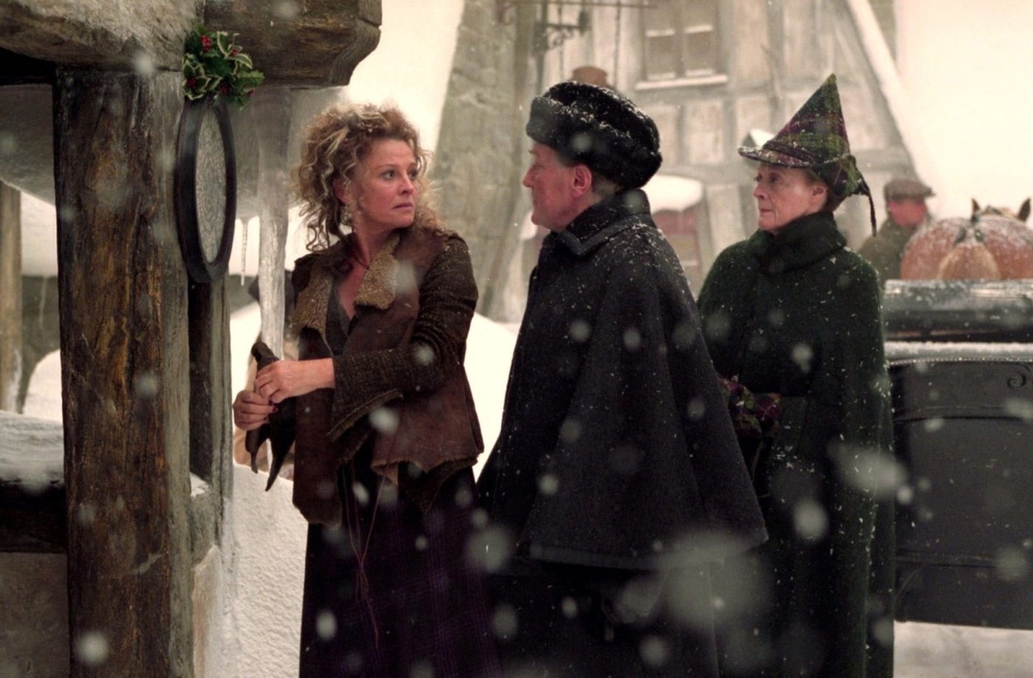 Rosmerta, Fudge and McGonagall enter The Three Broomsticks