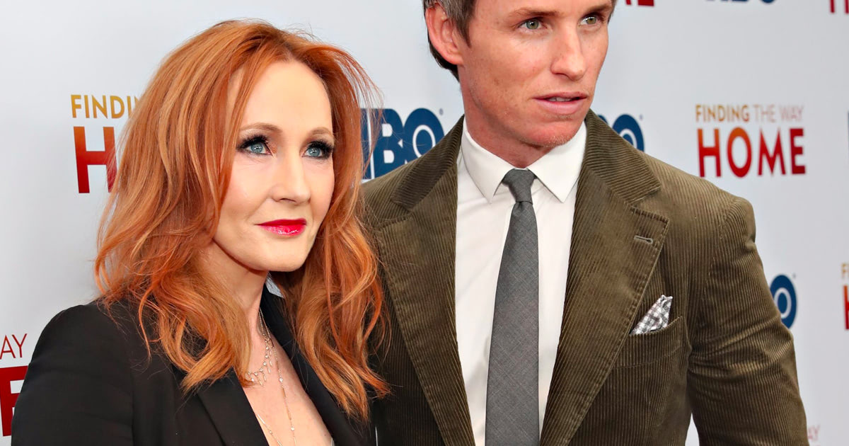 Rowling and Redmayne walk the red carpet for 'Finding the Way Home'