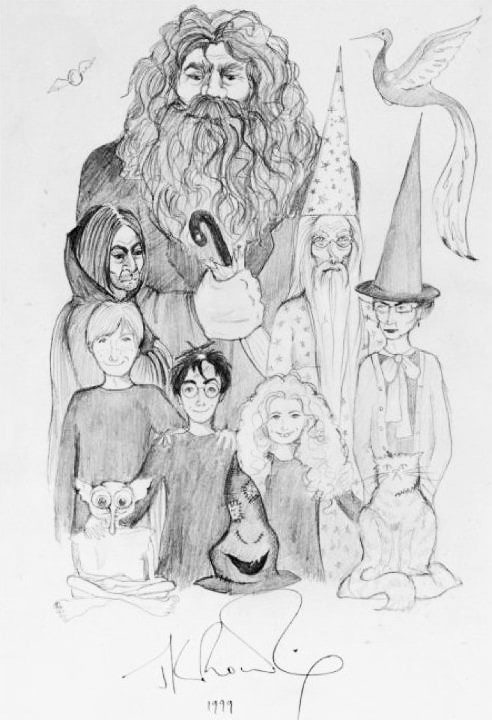 Portrait of characters (J.K. Rowling sketch)