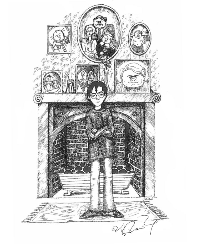 Harry at the Dursleys (J.K. Rowling sketch)