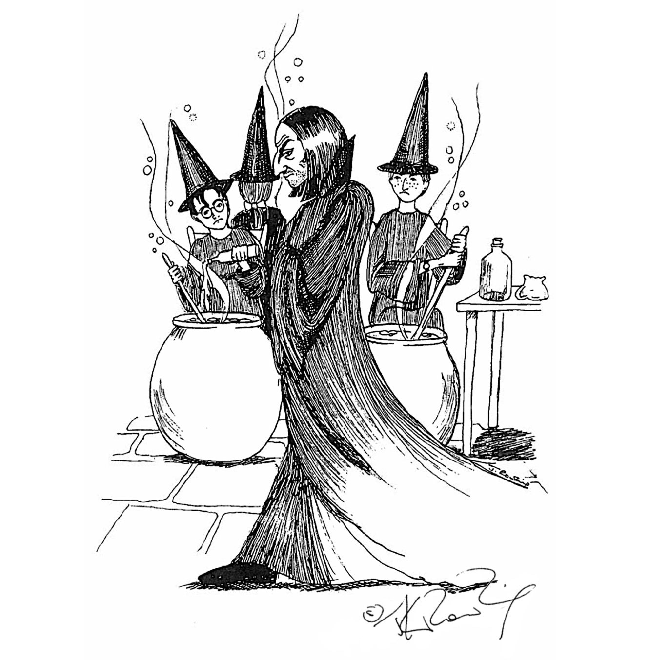 Snape in potions class (J.K. Rowling sketch)