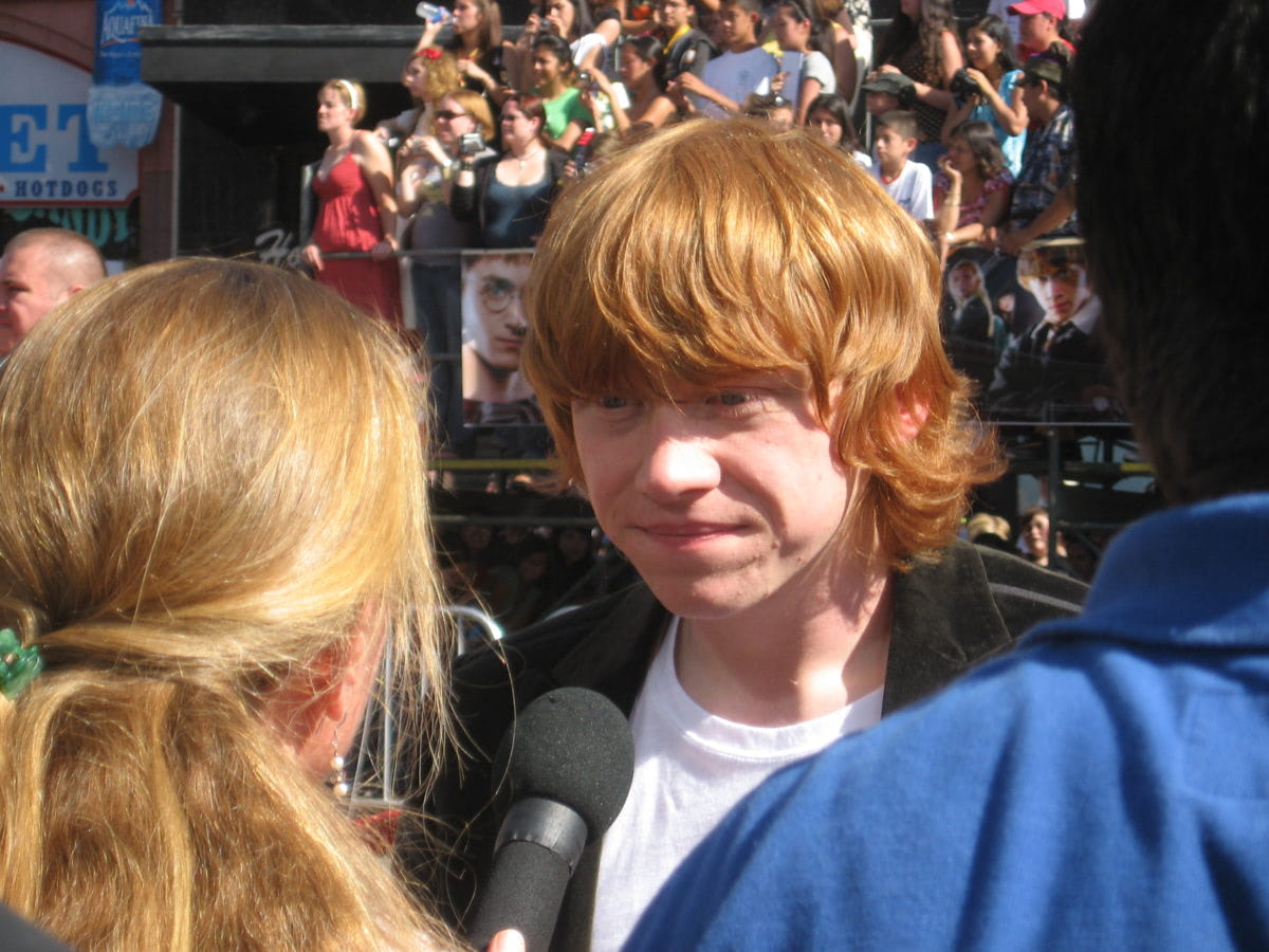 Rupert Grint at the Los Angeles 'Order of the Phoenix' premiere