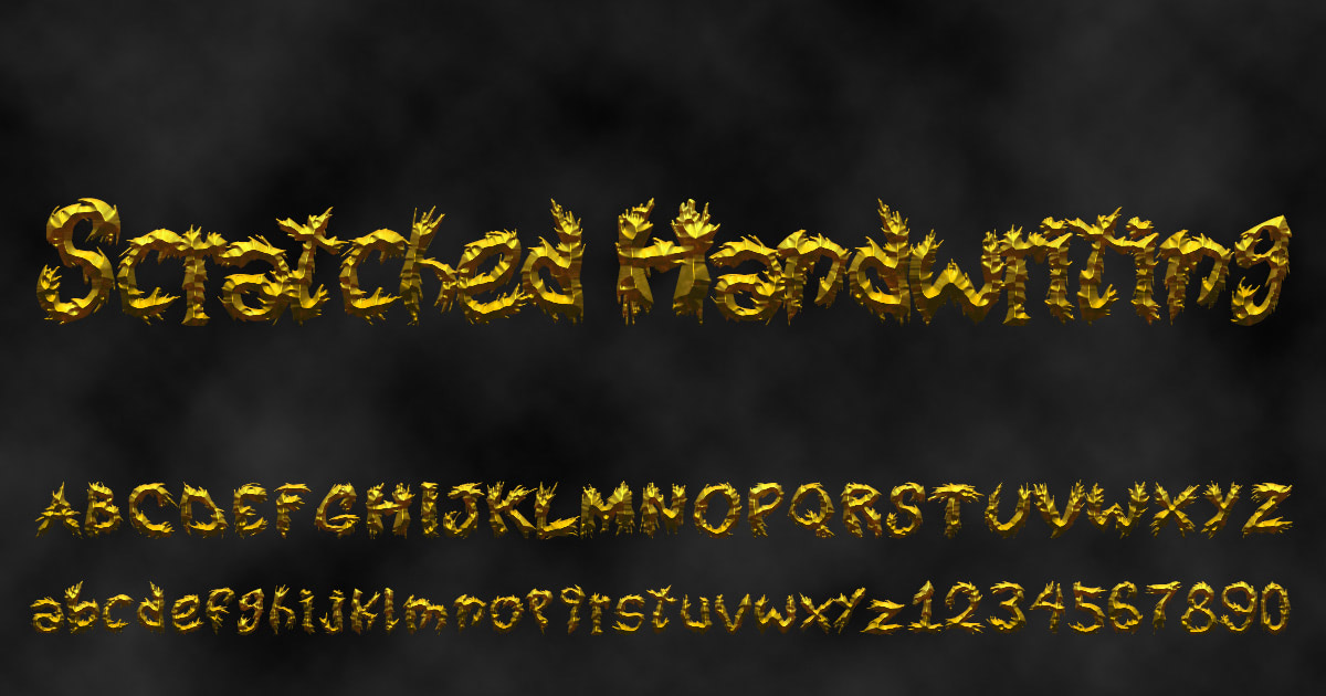 'Scratched Handwriting' font