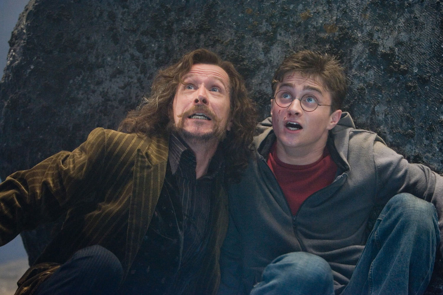 Sirius and Harry in the Department of Mysteries