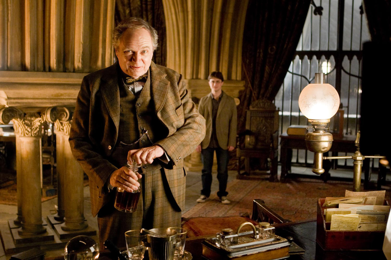 Slughorn in his office