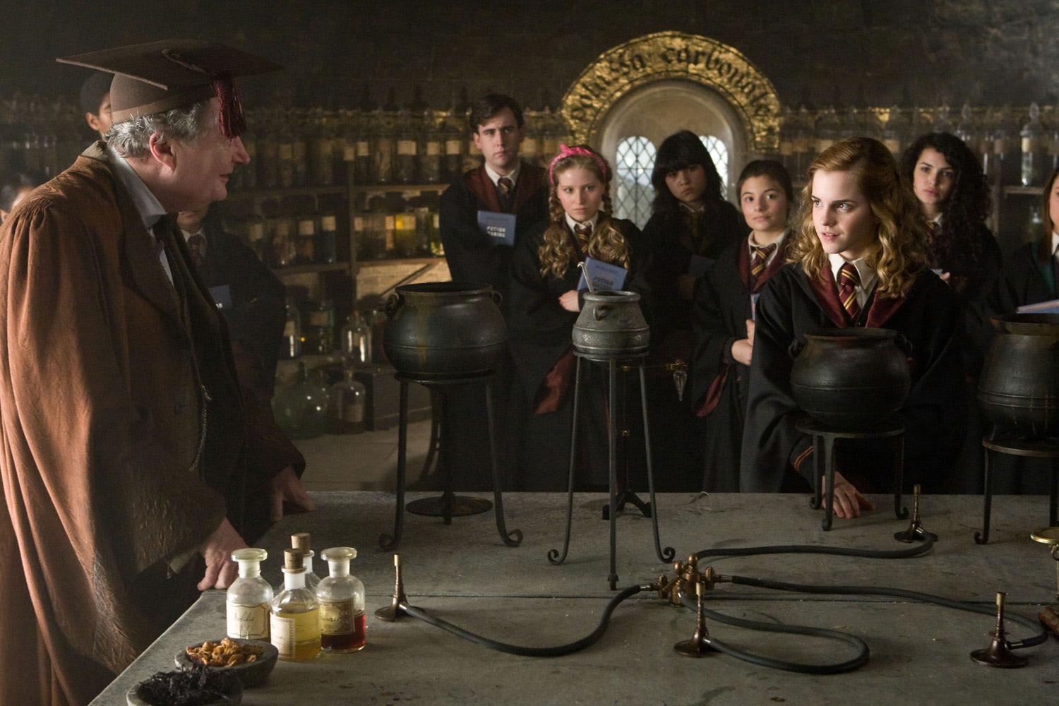 Slughorn teaches Potions