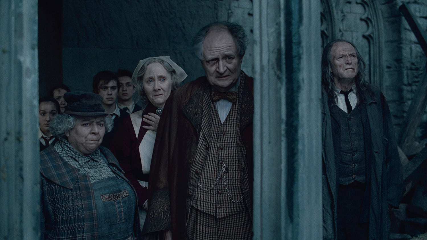 Slughorn watches the destruction
