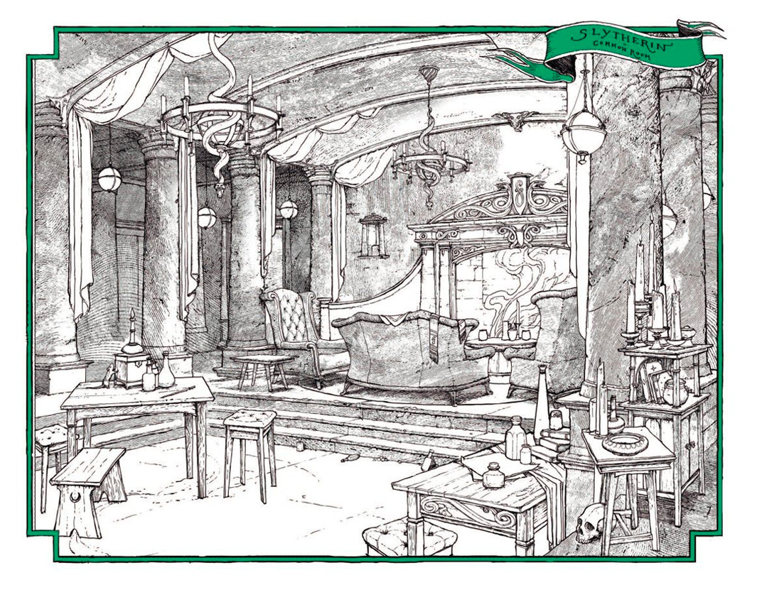 Slytherin common room (house editions)