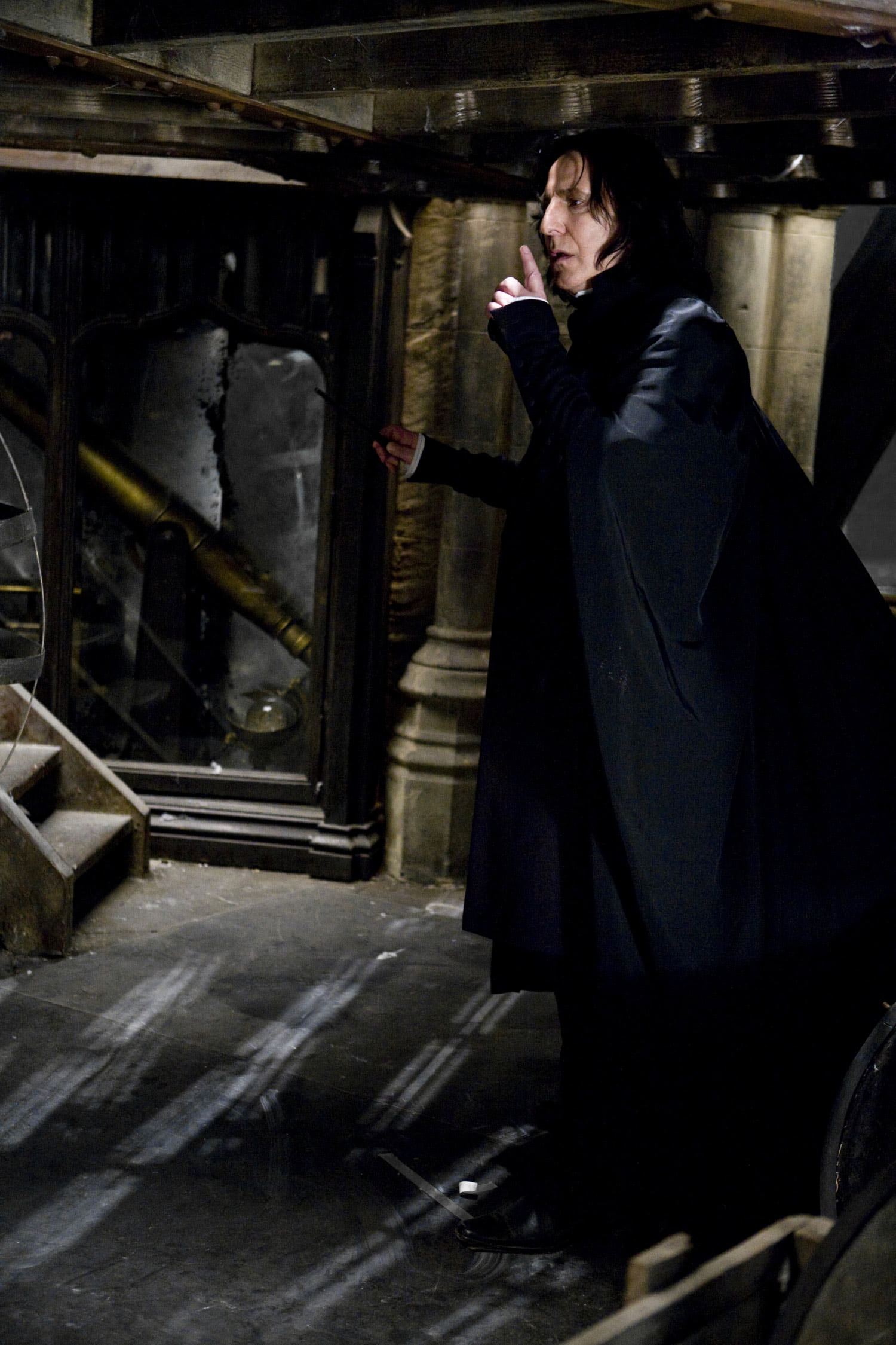 Snape arrives at the Astronomy Tower